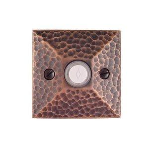 Emtek Hardware Illuminated Hammered Door Bell in Oil Rubbed Bronze