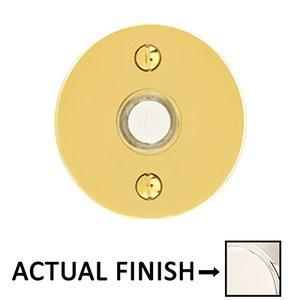 Emtek Hardware Illuminated Disk Door Bell in Lifetime Polished Nickel
