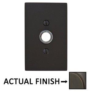 Emtek Hardware Modern Rectangular Illuminated Door Bell in Oil Rubbed Bronze
