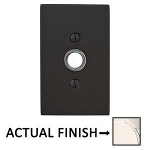 Emtek Hardware Modern Rectangular Illuminated Door Bell in Lifetime Polished Nickel