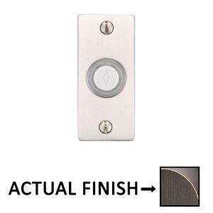 Emtek Hardware Illuminated Small Rectangular Door Bell in Medium Bronze