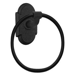 Emtek Hardware Arched Towel Ring in Flat Black Bronze