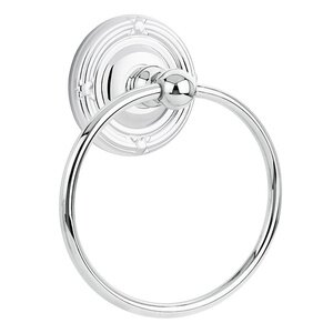 Emtek Hardware Ribbon & Reed Towel Ring in Polished Chrome