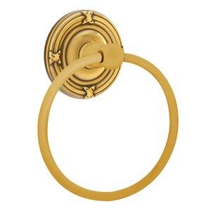 Emtek Hardware Ribbon & Reed Towel Ring in French Antique Brass
