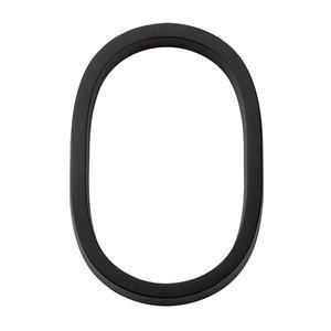 Emtek Hardware #0 Modern House Number in Flat Black