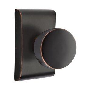 Emtek Hardware Double Dummy Laurent Door Knob With Neos Rose in Oil Rubbed Bronze