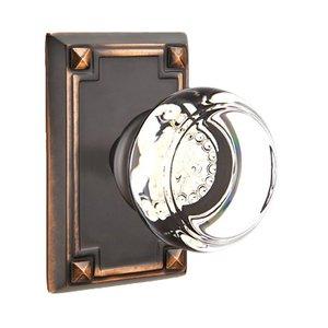 Emtek Hardware Georgetown Privacy Door Knob with Arts & Crafts Rectangular Rose in Oil Rubbed Bronze