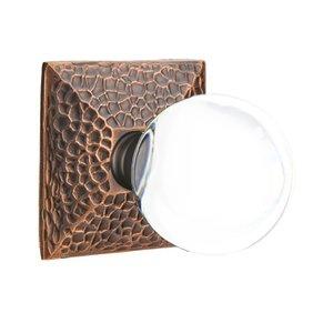 Emtek Hardware Bristol Privacy Door Knob with Hammered Rose in Oil Rubbed Bronze