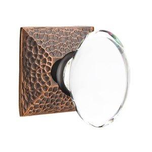 Emtek Hardware Hampton Privacy Door Knob with Hammered Rose in Oil Rubbed Bronze