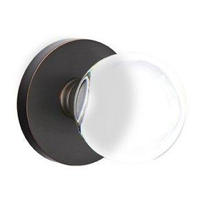 Emtek Hardware Bristol Privacy Door Knob with Disk Rose in Oil Rubbed Bronze