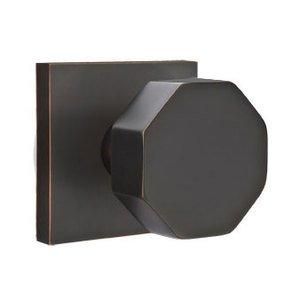 Emtek Hardware Privacy Octagon Door Knob With Square Rose in Oil Rubbed Bronze