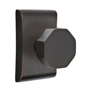 Emtek Hardware Privacy Octagon Door Knob With Neos Rose in Oil Rubbed Bronze