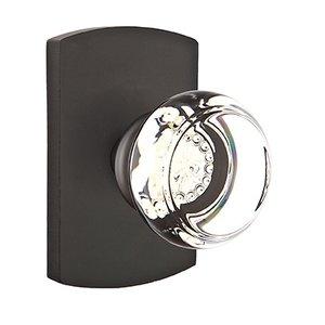 Emtek Hardware Georgetown Double Dummy Door Knob with #4 Rose in Flat Black Bronze