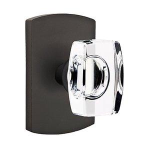 Emtek Hardware Windsor Double Dummy Door Knob with #4 Rose in Flat Black Bronze