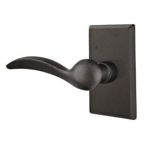 Emtek Hardware Half Dummy Left Handed Durango Lever With #3 Rose in Flat Black Bronze