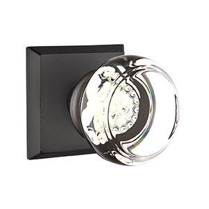 Emtek Hardware Georgetown Double Dummy Door Knob with #6 Rose in Flat Black Bronze