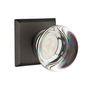 Emtek Hardware Providence Double Dummy Door Knob with #6 Rose in Flat Black Bronze