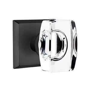 Emtek Hardware Windsor Double Dummy Door Knob with #6 Rose in Flat Black Bronze
