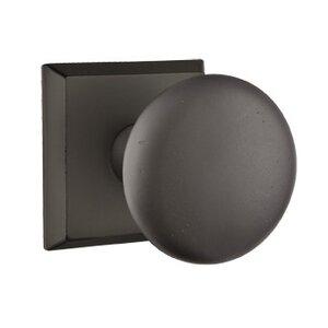 Emtek Hardware Passage Winchester Knob With #6 Rose in Flat Black Bronze