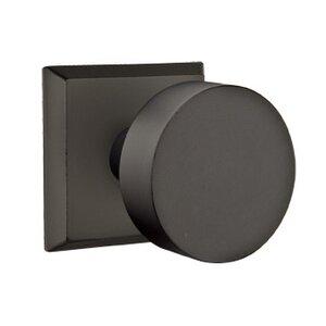 Emtek Hardware Privacy Round Knob With #6 Rose in Flat Black Bronze