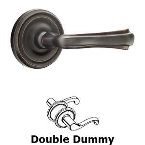 Emtek Hardware Double Dummy Wembley Lever With Regular Rose in Oil Rubbed Bronze