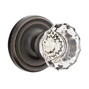 Emtek Hardware Astoria Privacy Door Knob with Regular Rose and Concealed Screws in Oil Rubbed Bronze