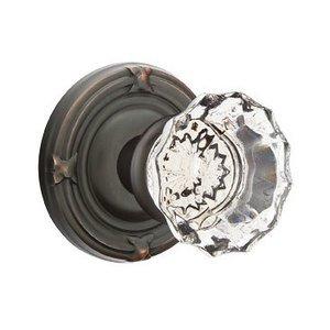 Emtek Hardware Astoria Privacy Door Knob with Ribbon & Reed Rose in Oil Rubbed Bronze