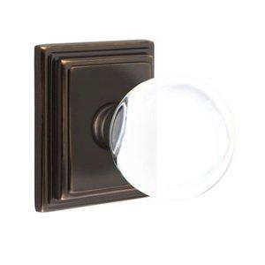 Emtek Hardware Bristol Privacy Door Knob with Wilshire Rose in Oil Rubbed Bronze