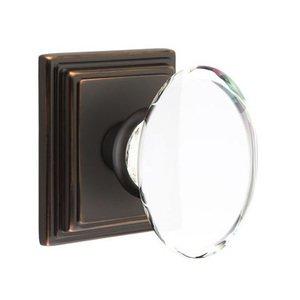 Emtek Hardware Hampton Privacy Door Knob with Wilshire Rose in Oil Rubbed Bronze