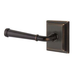 Emtek Hardware Privacy Left Handed Merrimack Lever With Wilshire Rose in Oil Rubbed Bronze