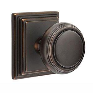 Emtek Hardware Privacy Norwich Door Knob With Wilshire Rose in Oil Rubbed Bronze