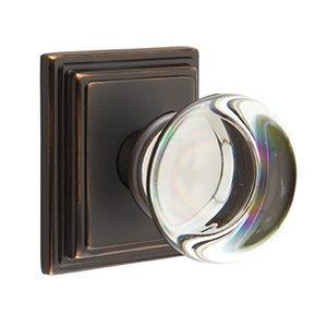 Emtek Hardware Providence Privacy Door Knob with Wilshire Rose in Oil Rubbed Bronze