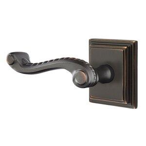Emtek Hardware Privacy Left Handed Rope Lever With Wilshire Rose in Oil Rubbed Bronze