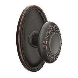 Emtek Hardware Single Dummy Victoria Knob With Oval Rose in Oil Rubbed Bronze