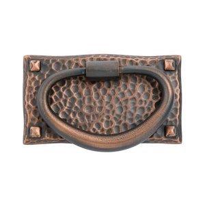 """Emtek Hardware 3"""" (76mm) Hammered Oval Pull in Oil Rubbed Bronze"""