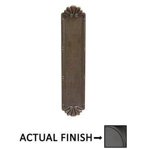 Emtek Hardware Petal Push Plate Flat Black Bronze