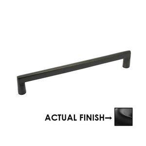"Emtek Hardware 8"" Centers Rail Pull in Flat Black Bronze"