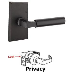 Emtek Hardware Privacy Bryce Left Handed Lever with #3 Rose and Concealed Screws in Flat Black Bronze