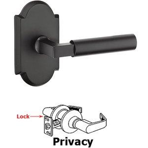 Emtek Hardware Privacy Bryce Left Handed Lever with #1 Rose and Concealed Screws in Flat Black Bronze