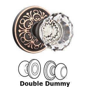 Emtek Hardware Astoria Double Dummy Door Knob with Lancaster Rose in Oil Rubbed Bronze
