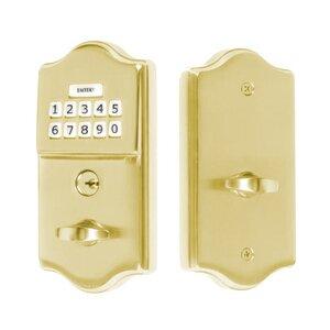 Emtek Hardware Classic Electronic Keypad Deadbolt in Polished Brass