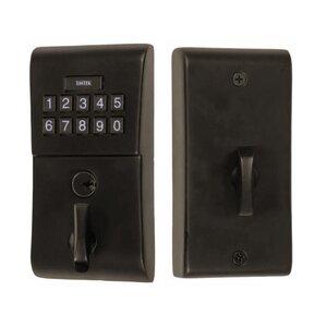 Emtek Hardware Modern Electronic Keypad Deadbolt in Oil Rubbed Bronze
