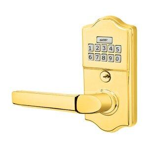 Emtek Hardware Milano Left Hand Classic Lever with Electronic Keypad Lock in Polished Brass