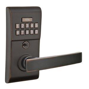 Emtek Hardware Geneva Right Hand Modern Lever Storeroom Electronic Keypad Lock in Oil Rubbed Bronze