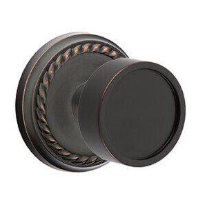 Emtek Hardware Double Dummy Verve Door Knob With Rope Rosein Oil Rubbed Bronze