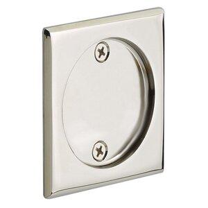 Emtek Hardware Tubular Square Dummy Pocket Door Hardware in Polished Nickel