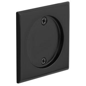 Emtek Hardware Tubular Square Dummy Pocket Door Hardware in Flat Black