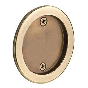Emtek Hardware Tubular Round Dummy Pocket Door Hardware in French Antique