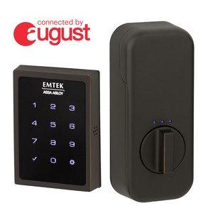 Emtek Hardware Touchscreen Keypad Smart Deadbolt Connected by August In Oil Rubbed Bronze