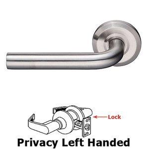 Emtek Hardware Kiel Left Hand Privacy Door Lever With Brushed Stainless Steel Beveled Rose